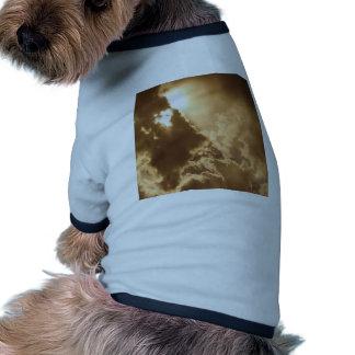 Sky Golden Glow Shines Doggie T Shirt