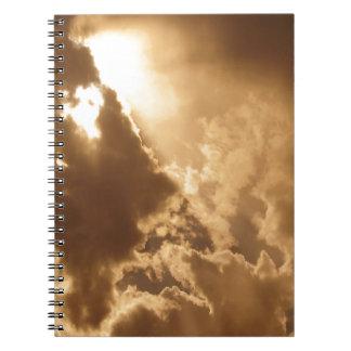 Sky Golden Glow Shines Journal