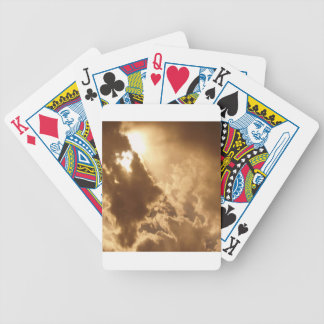 Sky Golden Glow Shines Bicycle Playing Cards