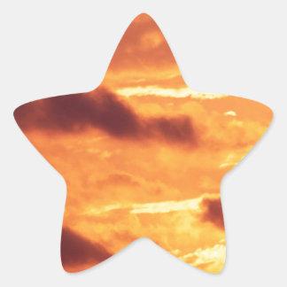 Sky Golden Glow Star Sticker