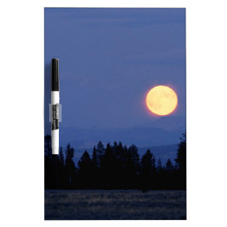Sky Harvest Moon Wyoming Dry Erase Board