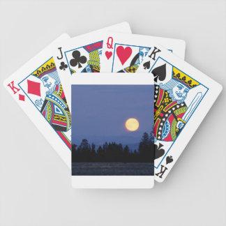 Sky Harvest Moon Wyoming Poker Cards