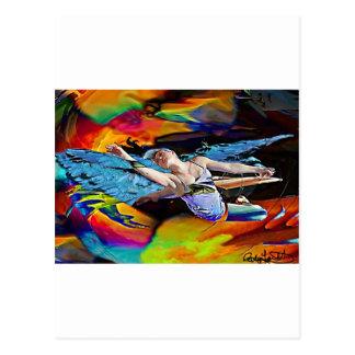 Sky Hawk Warrior Goddess.jpg Postcard