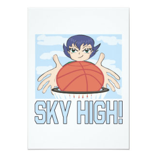 Sky High 13 Cm X 18 Cm Invitation Card