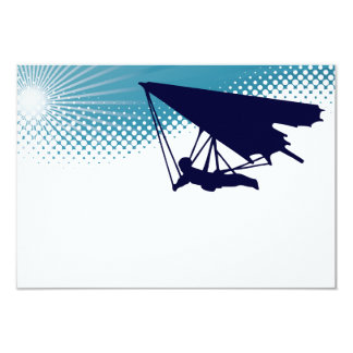 sky high hang glider 9 cm x 13 cm invitation card