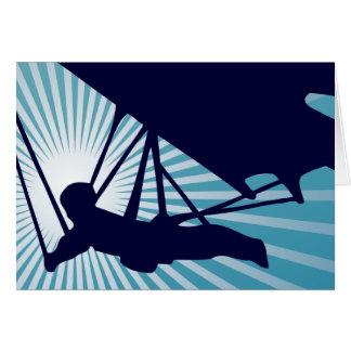 sky high hang gliding greeting card