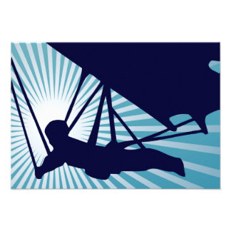 sky high hang gliding personalized invitation