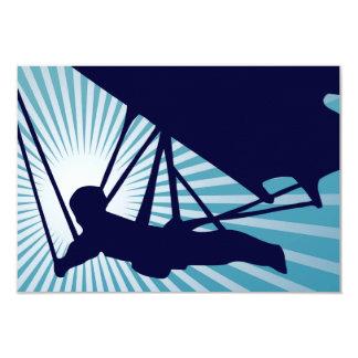 "sky high hang gliding 3.5"" x 5"" invitation card"