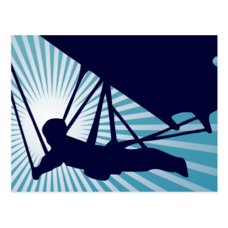 sky high hang gliding postcard