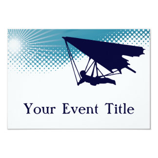 sky high hangglider 9 cm x 13 cm invitation card