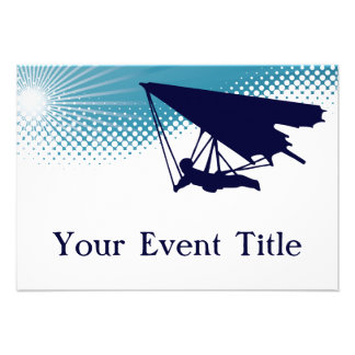 sky high hangglider personalized invite
