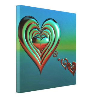 Sky High Hearts Canvas Print