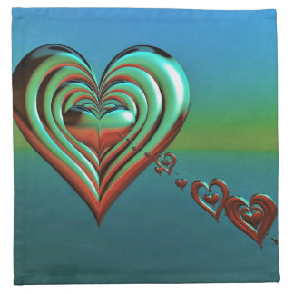Sky High Hearts Napkin