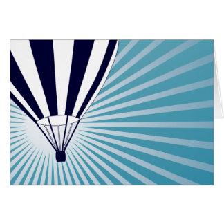 sky high hot air balloon greeting card