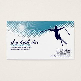 sky high skis business card
