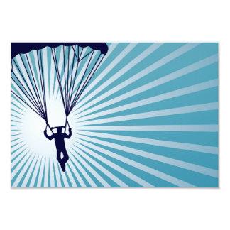 sky high skydiver 9 cm x 13 cm invitation card