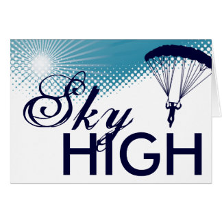 sky high skydiver greeting card