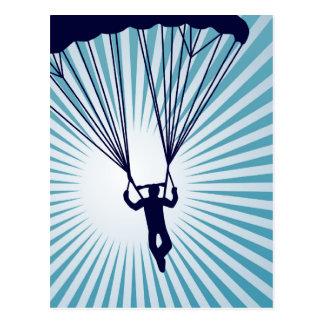 sky high skydiver post card