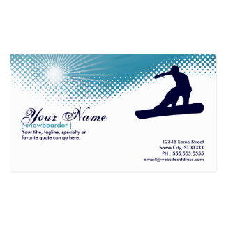 sky high snowboarder business card templates