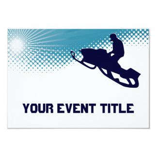 sky high snowmobile 9 cm x 13 cm invitation card