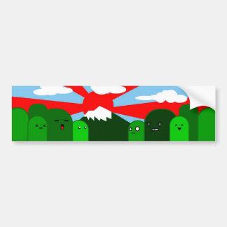 sky & hills bumper sticker