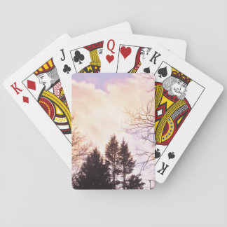 Sky in winter playing cards