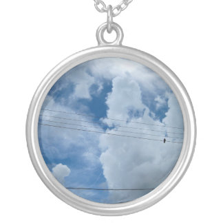 Sky is the limit round pendant necklace