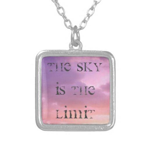 Sky is the limit pendant