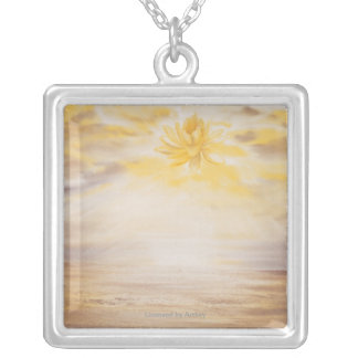Sky Lotus Silver Plated Necklace