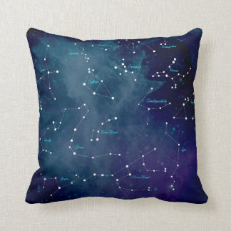 Sky Map Constellations Astronomy Cushion