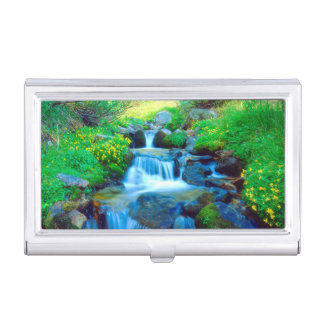 Sky Meadows in the Sierra Nevada Mountains Business Card Holder