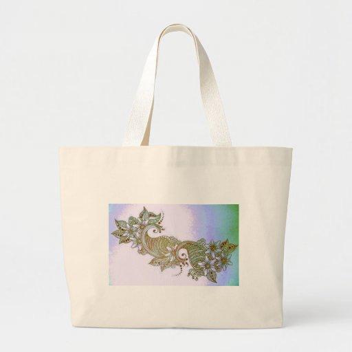 Sky Mehndi Tote Bags