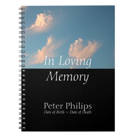 Sky Memorial Remembrance Books Personalised Binder