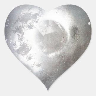 Sky moon heart sticker