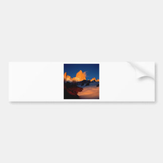 Sky Mount Fitzroy At Night Bumper Stickers