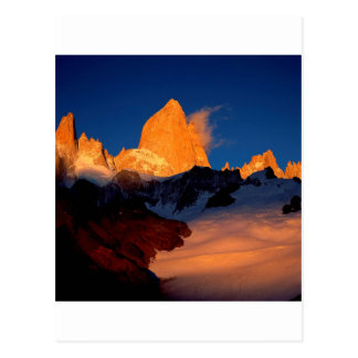 Sky Mount Fitzroy At Night Postcard