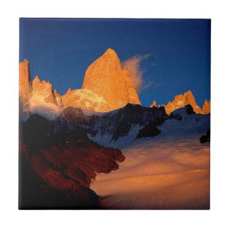 Sky Mount Fitzroy At Night Ceramic Tile