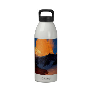 Sky Mount Fitzroy At Night Drinking Bottle