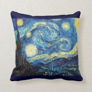 Sky Nature Blue Nature Gogh Star Starry-Night Cushion