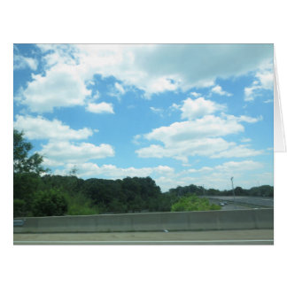 SKY Nature Green CherryHILL NewJersery USA Grand Large Greeting Card