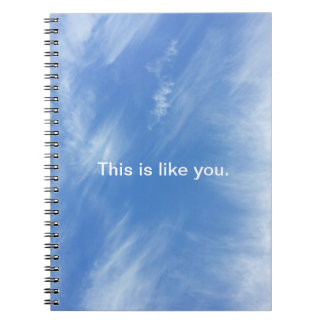 Sky Notebook - This is like you.
