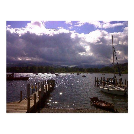 Sky of Windemere,Uk Postcard