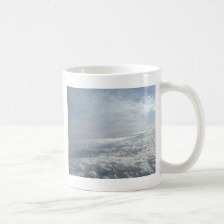 Sky, Plane View, Beautiful Clouds Basic White Mug