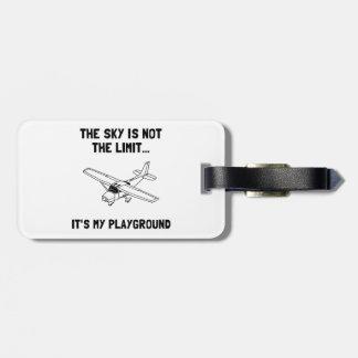 Sky Playground Plane Luggage Tag