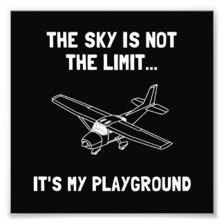 Sky Playground Plane Photo Print