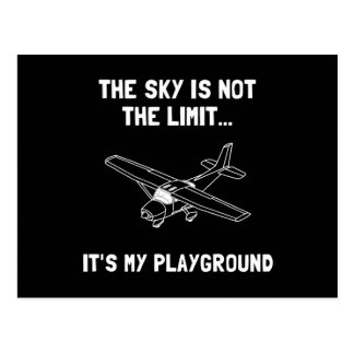 Sky Playground Plane Postcard