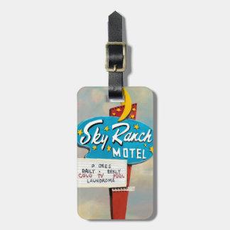 Sky Ranch Motel Sign Bag Tag