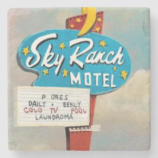 Sky Ranch Motel Sign Stone Coaster