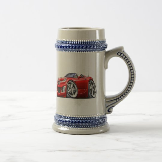 Sky Red Car Beer Stein