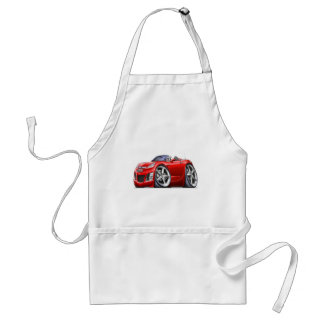 Sky Red Car Standard Apron